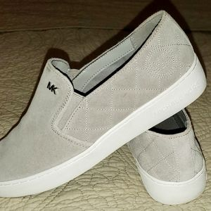 Women's Gray Keaton Quilted Suede Skate Slip-ons